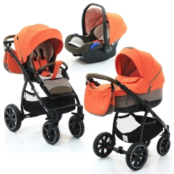 Коляска 3 в 1 Noordi Sole Sport, Orange Red 862